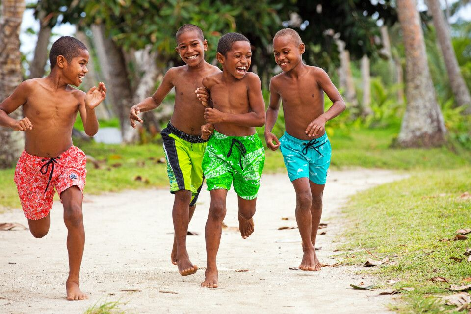 Dorfkinder auf Fiji