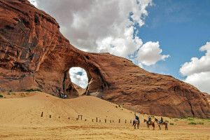Ear of the Wind Arch, Monument Valley, Arizona