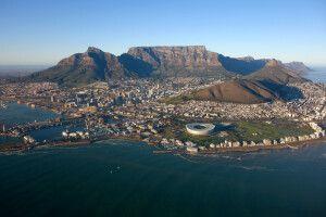 Südafrika - Helicopterflug mit Blick auf Kapstadt