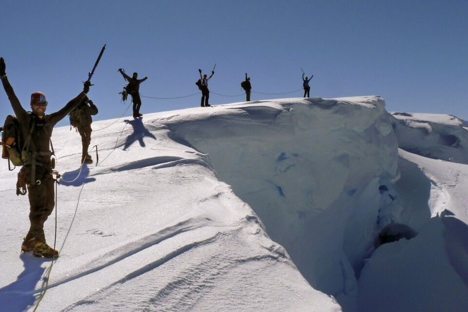 Erfolgreicher Gipfelsturm in der Antarktis