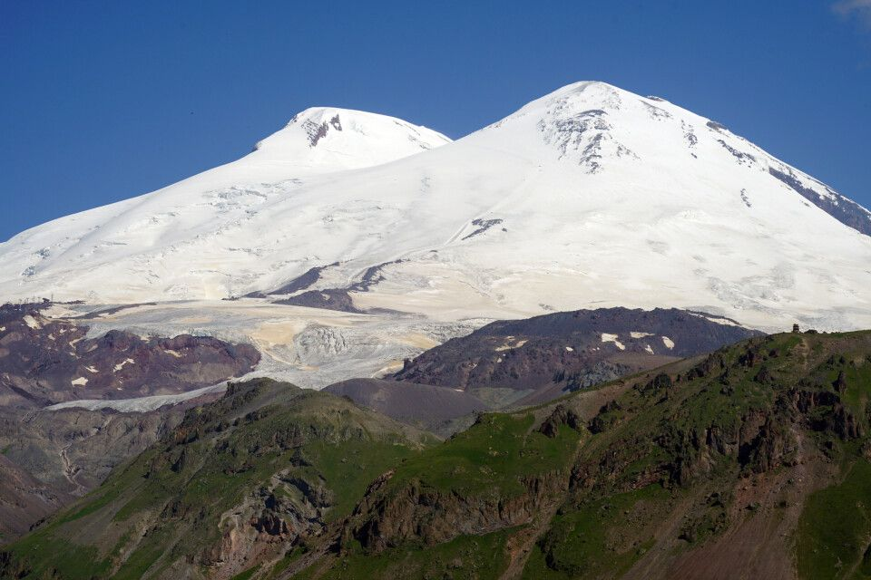 der 5642m hohe Elbrus