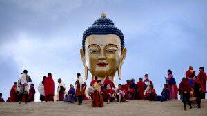 Buddha sieht alles und alle - Buddha Dordenma Thimphu