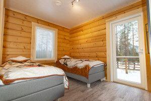 Schlafzimmer in einer Blockhütte (Beispiel)