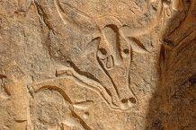 prähistorischen Gravur inmitten der Sahara