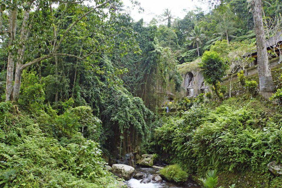 Blick auf den mystischen Tempel Gunung Kawi