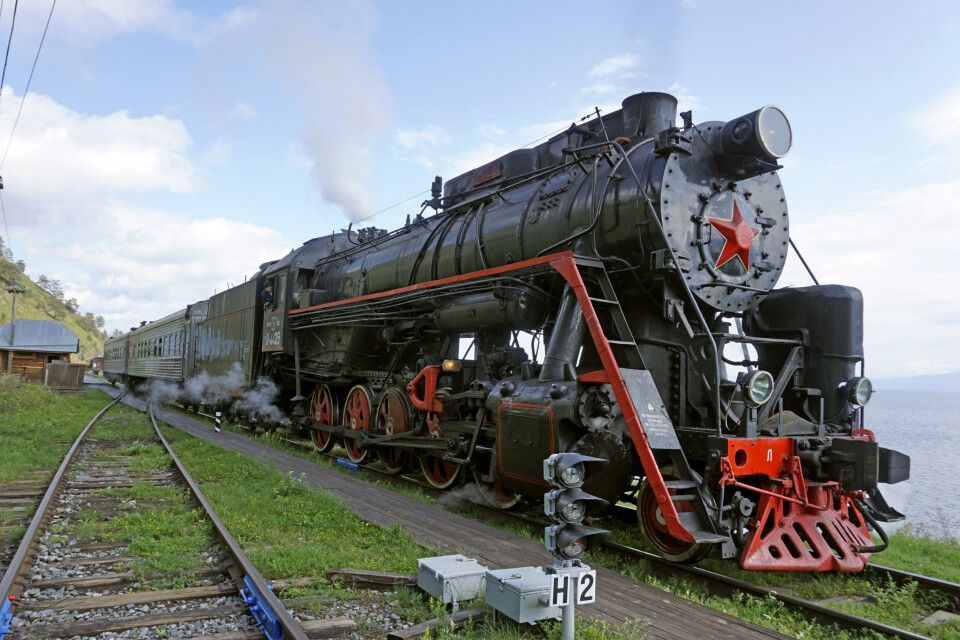 Mit der Transsibirische Eisenbahn unterwegs