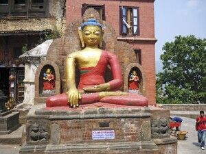 sitzender Buddha von Swayambunath