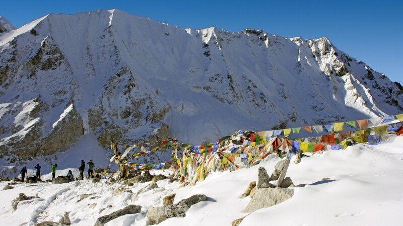 Passhöhe Larkya La (5135 m) © Diamir
