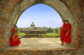 Dukanthein Paya in Mrauk U im Rakhine-Staat