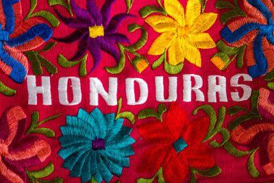 schöne honduranische Stickerei