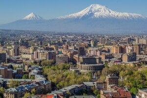 Jerewan mit Ararat