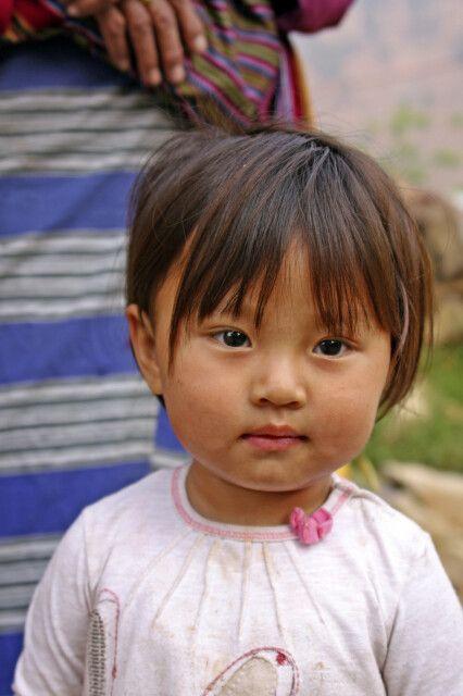 bhutanisches Mädchen in Punakha