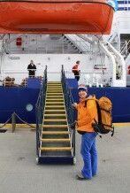 Einschiffung im Hafen von Ushuaia
